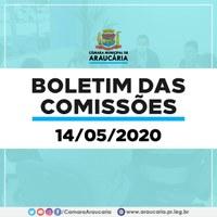 Boletim das Comissões – Saiba quais projetos foram votados na reunião desta quinta (14)
