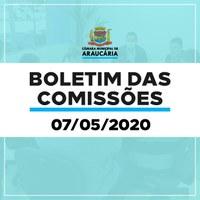 Boletim das Comissões de 7 de maio